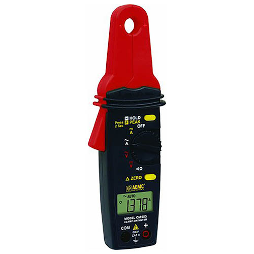 "100A AC/DC Low Current Clamp-on Meter ""AEMC"" model CM605"